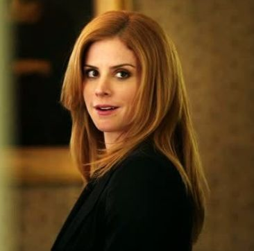 "Sarah Rafferty, adorable feisty redhead on ""Suits""."