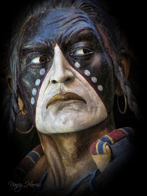 amazing faces | blackfoot indian | by nancy harris
