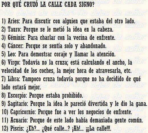 17 best images about frases y chistes graciosos on pinterest mafalda quino amigos and spanish - Los signos del zodiaco en orden ...