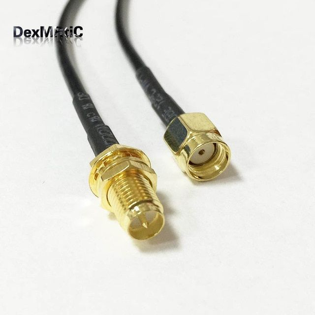 1pc Wifi Router Cable Rp Sma Female Jack Nut To Rp Sma Male Plug Rg174 30cm 50cm 100cm Wholesale Fast Ship Review Wifi Router Wifi Antenna Wifi