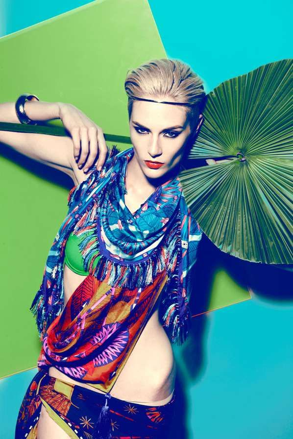 Vibrant Scarf Catalogs - The Forget Me Not Spring 2012 Lookbook is Inspired by Ancient Egypt (GALLERY)