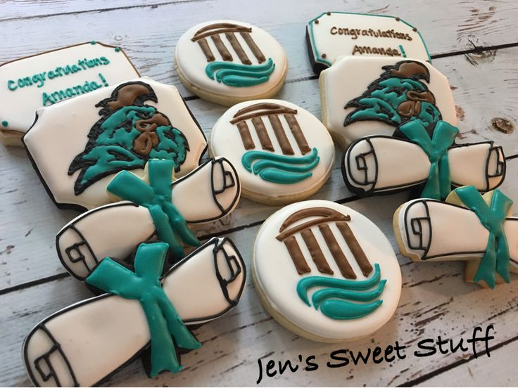 Coastal Carolina university graduation cookies.