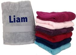 Luxurious Personalised Bath Towel for Father's Day! Embroider your Dad's name onto a high quality towel. Choice of 6 colours, available from wowwee.ie for €44.99