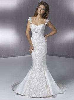 Свадебное платье русалка для худых