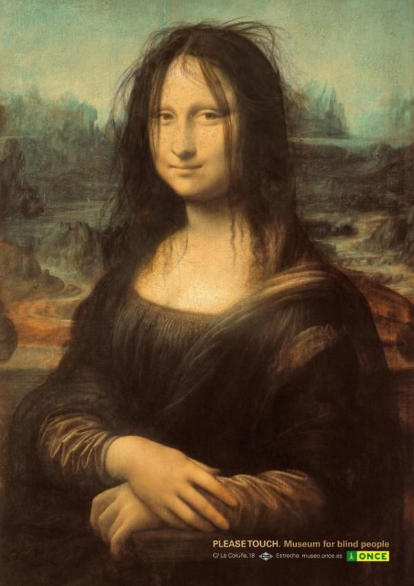 MONA LISA, MUSEUM FOR THE BLIND, JWT Madrid, Once, Print, Outdoor, Ads