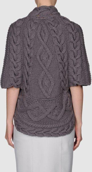 Brunello Cucinelli Cashmere Sweater in Gray (grey) - Lyst