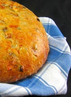 Barmbrack, a yeasted sweet bread that's traditionally served on Halloween in Ireland.