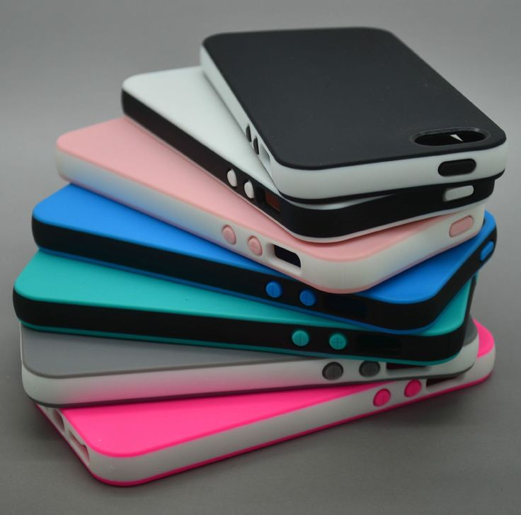 DUAL COLOR RUBBER SOFT SILICONE GEL SKIN BUMPER TPU CASE COVER FOR IPHONE 4 5 5C