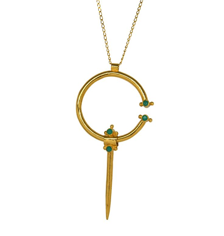 Carolina Curado Fibula Necklace http://www.carolinacurado.com/