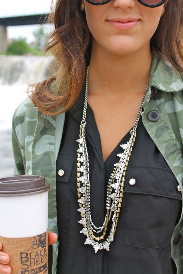 "The Stella & Dot Sutton Necklace as featured on the ""Chic Street Style"" blog. #StellaDotStyle  www.stelladot.com/katieponall"