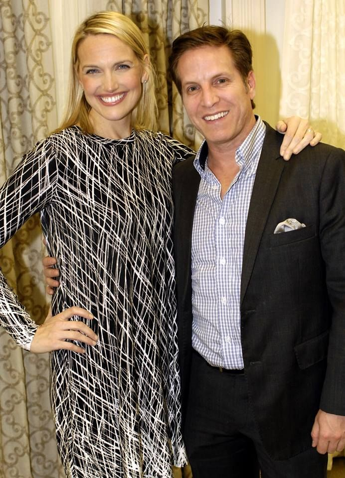 Monica Pedersen from HGTV and Jason Carr from Softline Home Fashions here  to launch Monicau0027s new