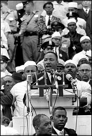 I Have a Dream speech, listen here.