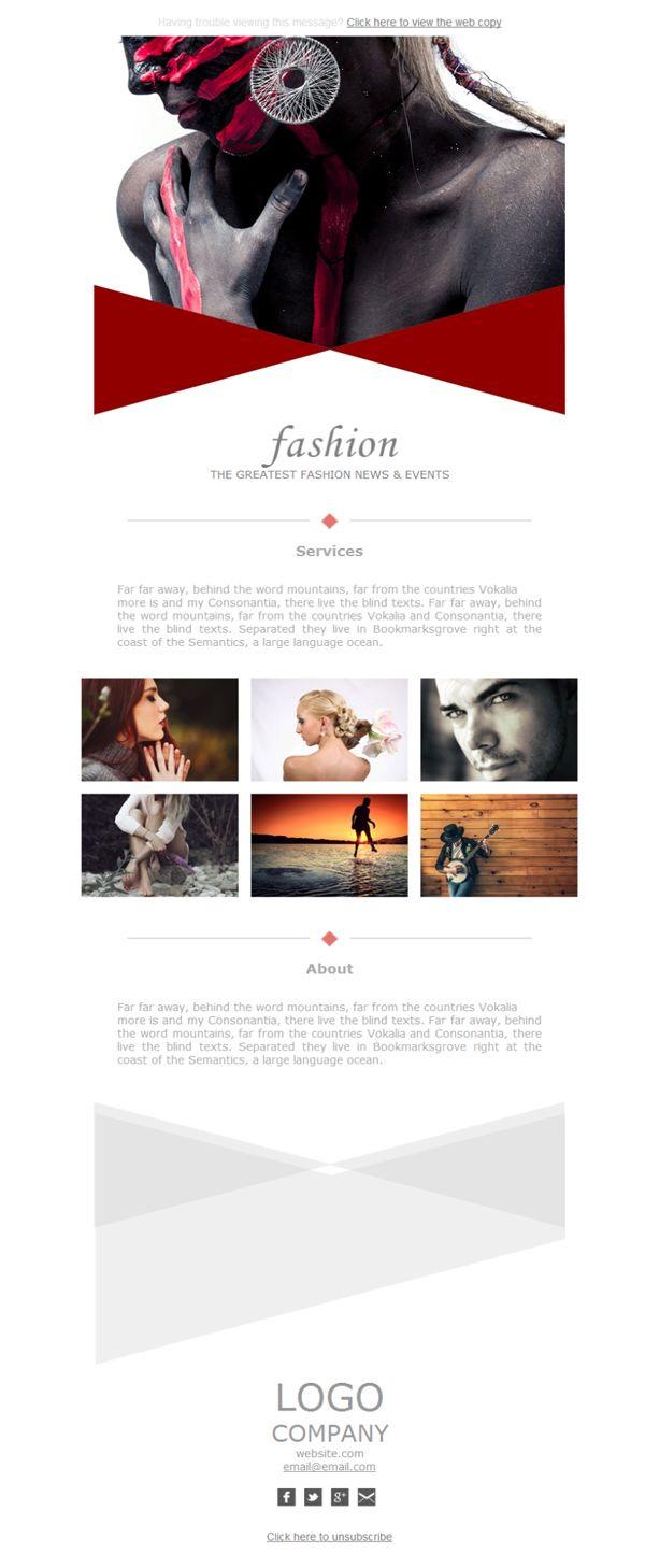 El modelo que buscas al alcance de un clic. Haz que a tus contactos les llegue esta sobria plantilla newsletter con todo tu catálogo.