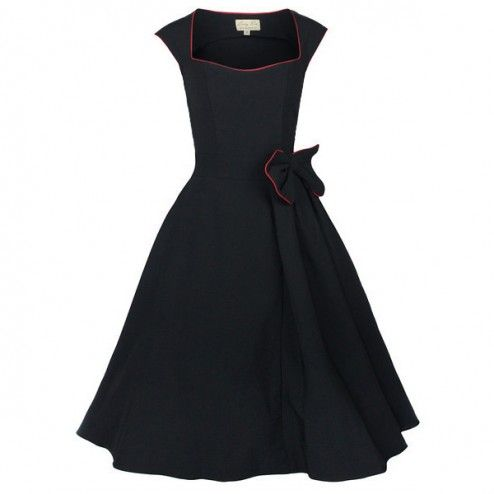 Lindy Bop Grace Swing 50's Dress Black - Kleding