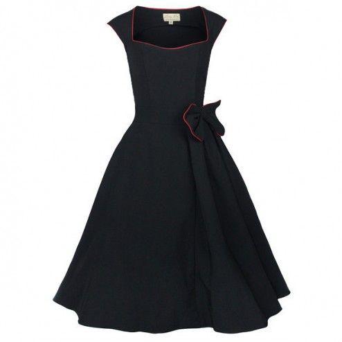 Lindy Bop Grace Swing 50's Dress Black - Kleding