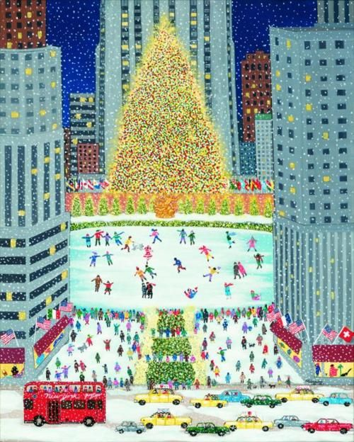 Rockefeller center ice rink and christmas on pinterest