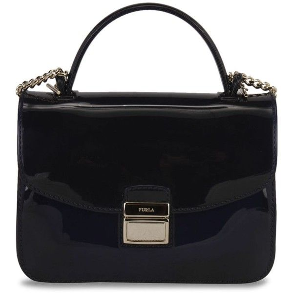 Furla Candy Shoulder Bag (7.455 RUB) ❤ liked on Polyvore featuring bags, handbags, shoulder bags, navy, navy shoulder bag, furla handbags, shoulder handbags, shoulder hand bags and navy blue handbags