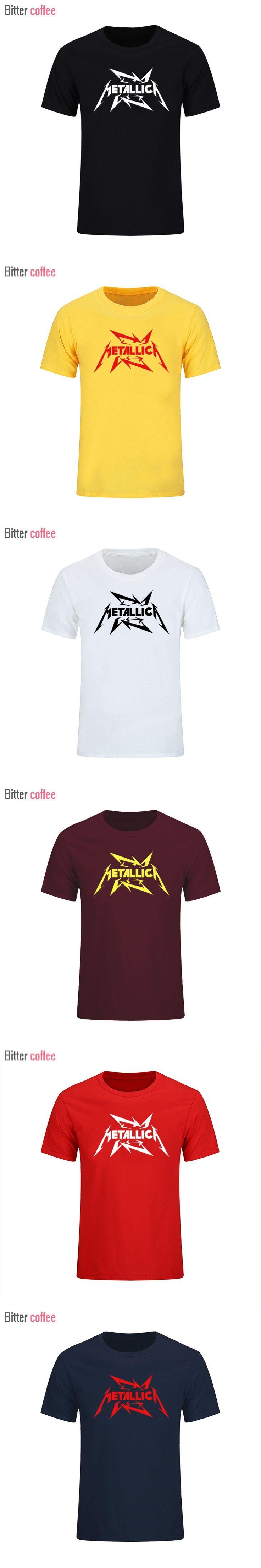 2017 Men's Heavy metal cultivate personality Metallica NIRVANA rock t shirts Funny Novelty hip hop rock t-shirts men T shirt