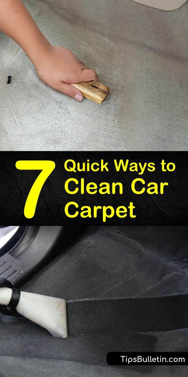 7 Quick Tricks To Clean Car Carpet In 2020 Car Carpet Clean Car Carpet Car Cleaning
