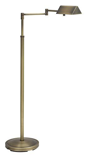 House Of Troy PIN400-AB Pinnacle Collection Portable Halogen Floor Lamp, Antique Brass  House of Troy (Made in the USA) Antique Brass Floor Lamp. Features Full Range Dimmer Switch. For more than 40 years, House of Troy has handcrafted Desk Lamps, Piano Lamps and Picture Lights in the great state of Vermont. House of Troy's reputation for craftsmanship, quality materials, and customer service make these items a value unsurpassed in the lighting industry. PIN400-AB Extendable, hinged a..