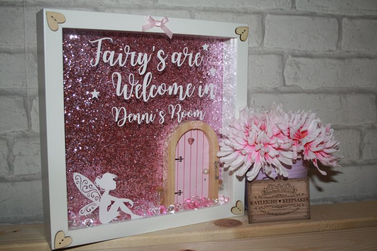 Fairys welcome vinyl print frame / children's fairy room decoration / fairy door decoration / fairy room / imagination / magical frame by Kayleighskeepsake on Etsy