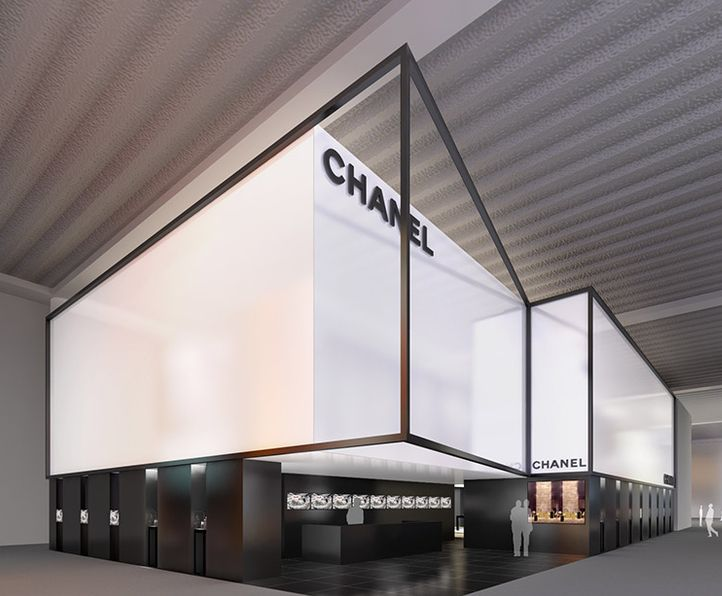 Chanel stand at the Baselworld fair by Peter Marino _