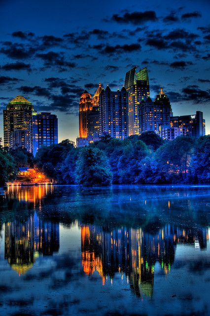 Atlanta's Midtown at the Blue Hour, HDR portrait by David Scruggs, via Flickr