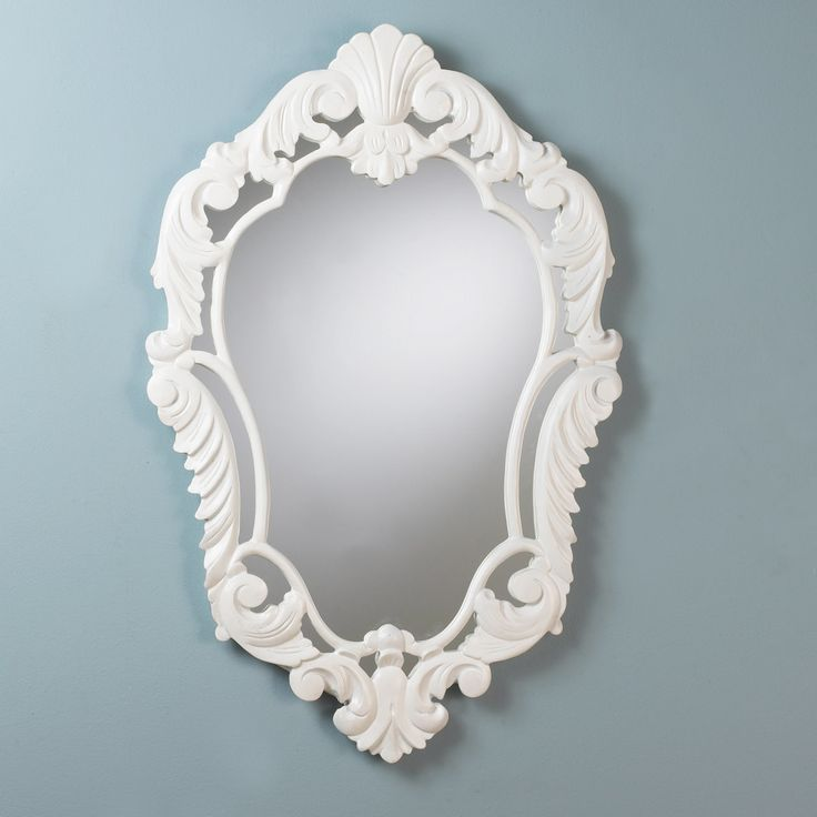 French Baroque Mirror gloss_white