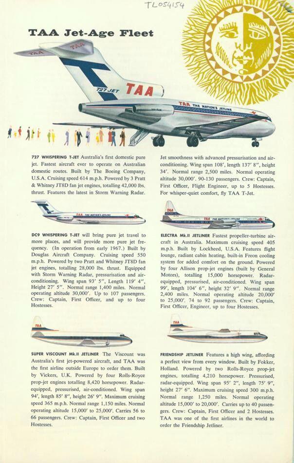 TAA, Trans Australia Airlines, Jet Age Fleet, 1966