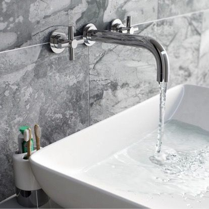 Alexa Wall Mounted Basin and Bath Mixer Pack