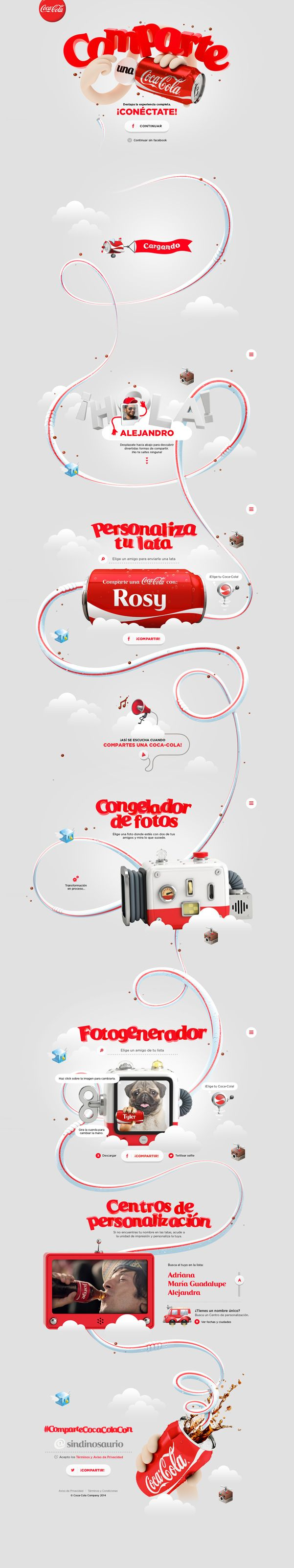 Comparte una Coca-Cola Website on Behance