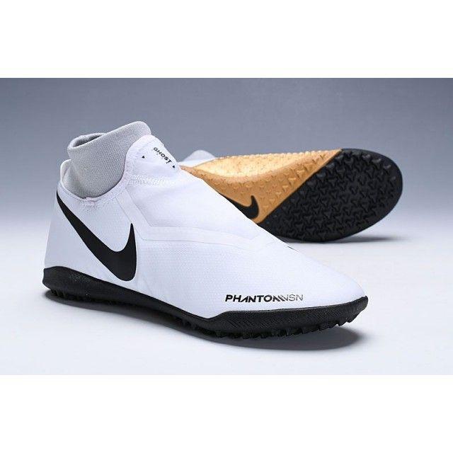 Nike Football Boots No Studs Nike Phantom Vision Academy Df Tf White Black Gold Concord Soccer Shoes Turf Mens Size 38 39 40 41 42 43 44 45 46 Chuteira Nike Cano Alto Nike Chuteiras Nike