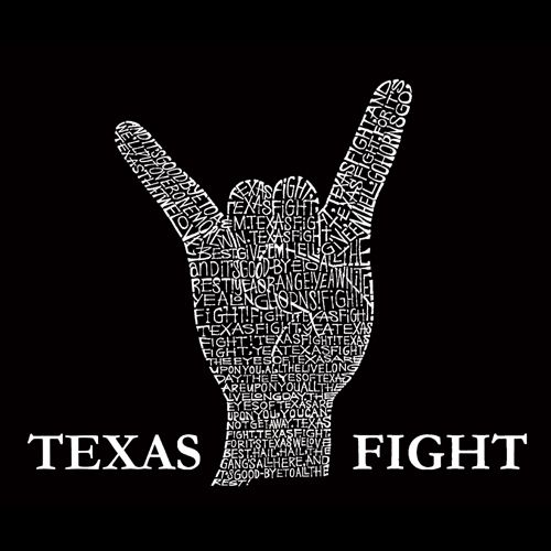 Men's Long Sleeve T-shirt - Longhorns Fight Song   Created using the lyrics to the Long Horns fight song - Texas Fight