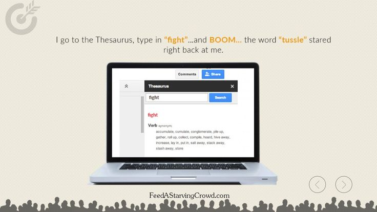 "http://FeedAStarvingCrowd.com - Writing a headline for your online content can be one of the most exciting challenges when you're a marketer. Here's a professional copywriter's tip on using a simple but often overlooked tool to make your headlines more engaging and clickable.  This is an excerpt from the new book ""Feed A Starving Crowd"". You can get 200+ other tips in finding a hungry market completely free by visiting http://FeedAStarvingCrowd.com"