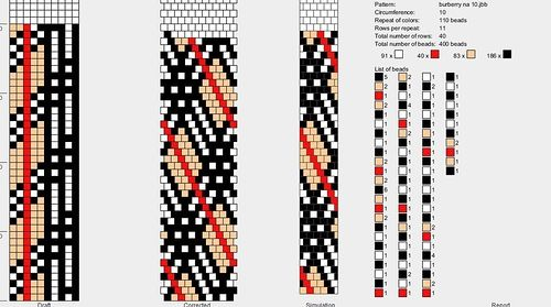 Альбом Жгуты Burberry | biser.info - всё о бисере и бисерном творчестве