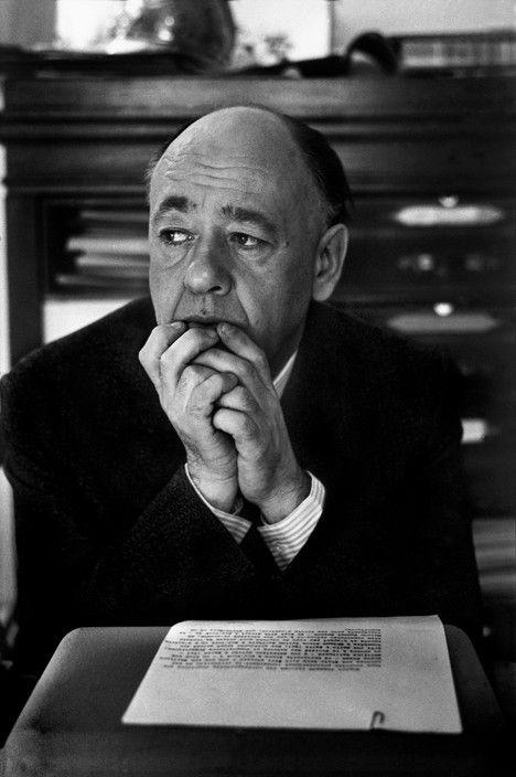 Marc Riboud - Eugene IONESCO in his Paris office in 1963.
