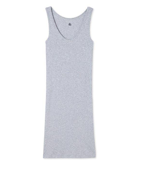 Nuisette femme en coton ultra light - Ancienne collection Petit Bateau gris