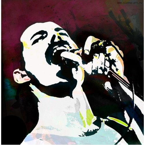 "Постер на холсте ""Кумиры. Freddie Mercury (Queen)"""