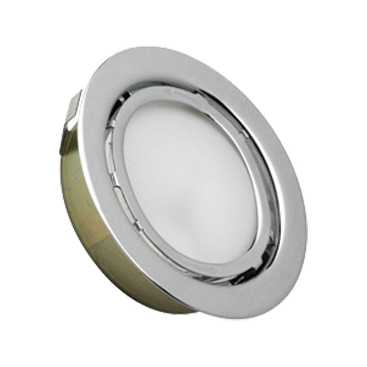 Alico MiniPot Premium 1 Lamp Xenon Cabinet Light In Chrome And Frosted Glass