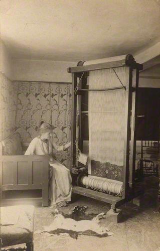 Jane Morris pre raphaelite Muse: May Morris by Unknown photographer vintage postcard print, before 1921