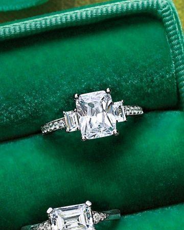 Emerald-Cut Diamond Engagement Ring. Beautiful!