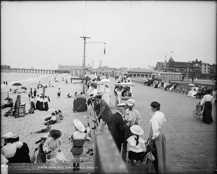 Boardwalk and Beach - Asbury Park, NJ