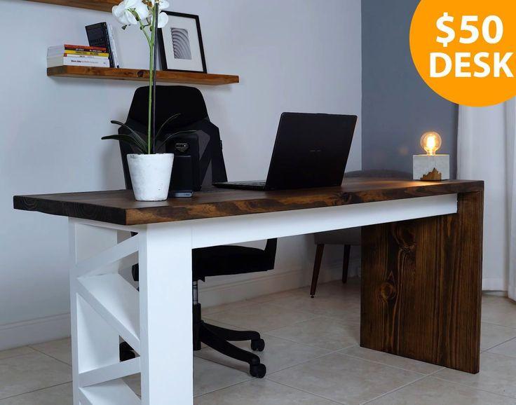 DIY Desk Under $50! in 2020 | Selling crafts online, Diy ...