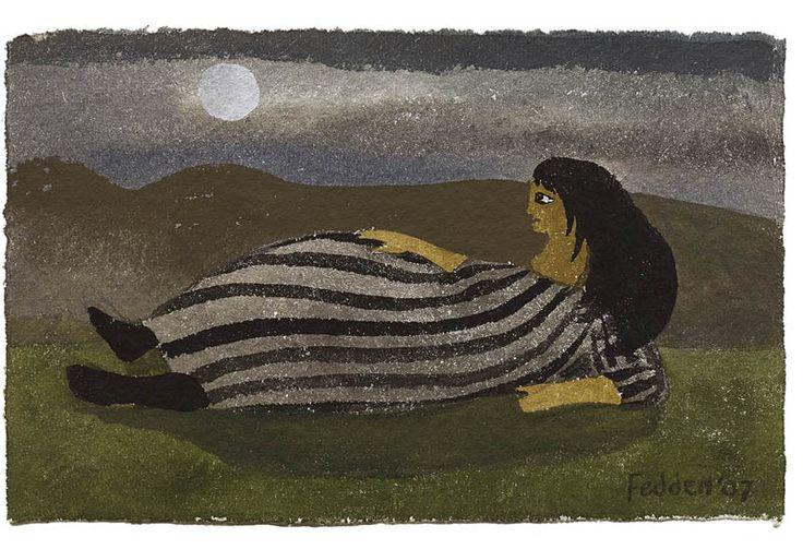 Mary Fedden | Lady in a Field