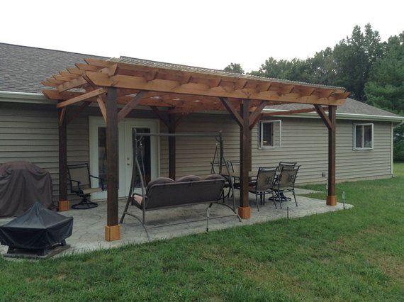 Covered Pergola Plans 12x20 Build Diy Outside Patio Wood Pergola Patio Rustic Pergola Backyard Pergola