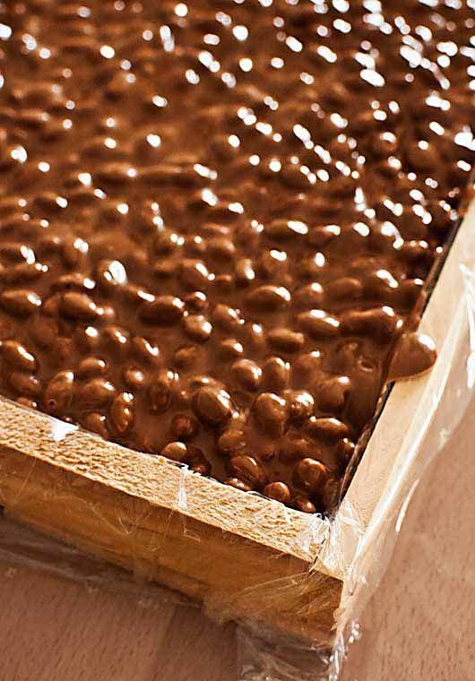 Como hacer turrón de chocolate y arroz inflado con Thermomix