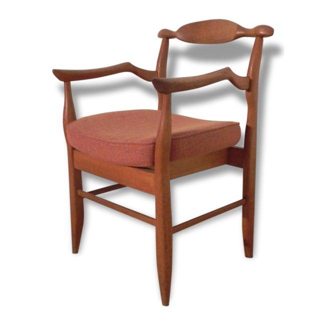 """Paire de fauteuils bridge """"Fumay"""" Guillerme et Chambron"""