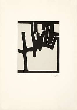 Eduardo Chillida (1924-2002), Inguru VI, 1968. Etching and aquatint mounted on China paper. Plate size: 43.7cm H x 35.3cm W. Sheet size: 89.6cm H x 63.7cm W. Edition of 30 copies.