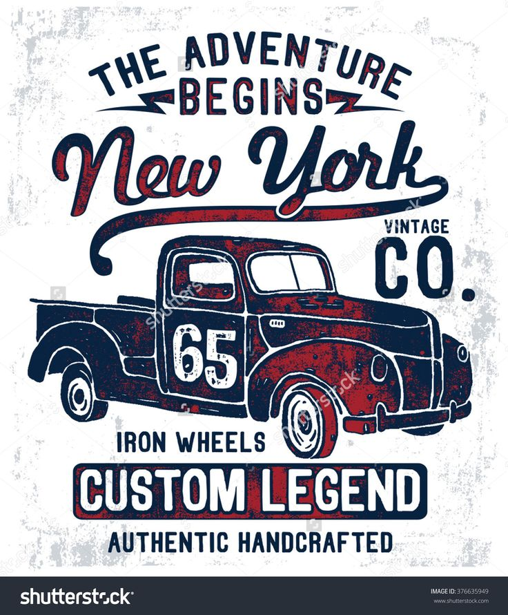 Vintage pick up illustration , vectors.