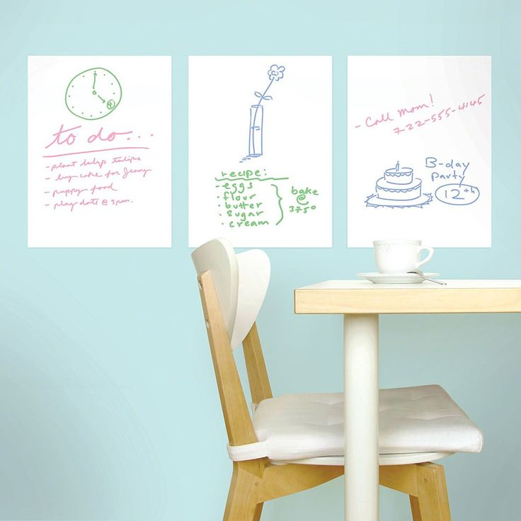 Dry Erase Wall Stickers. Peel U0026 Stick Vinyl. Removable, Reusable, Non  Part 34